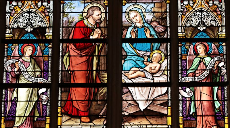 The Holy Family Stained Glass Artwork